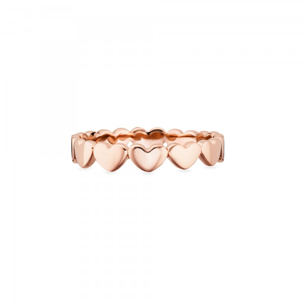 cai Ring 925/- Sterling Silber rotvergoldet Herzen
