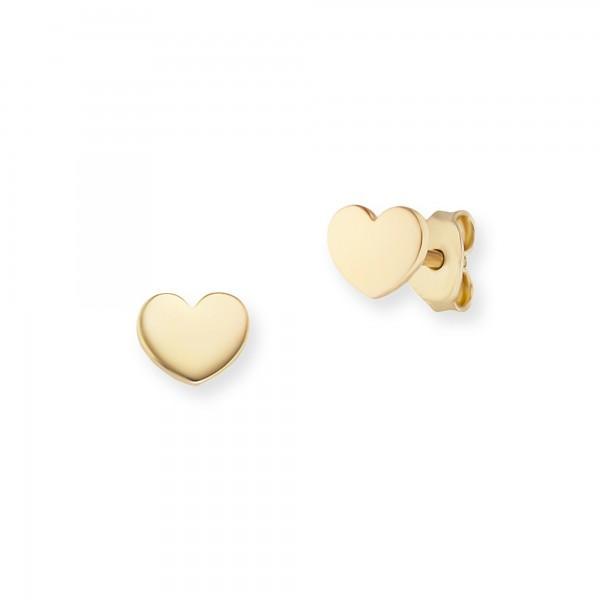 cai Ohrstecker 925/- Sterling Silber gelb vergoldet Herz