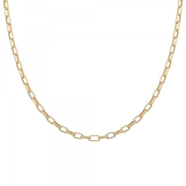 Collier 925 Silber vergoldet Y-Kette Gliederkette