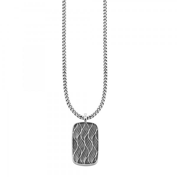 cai Anhänger mit Kette 925/- Sterling Silber rhodiniert Wellen