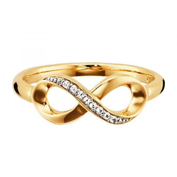 cai Ring 925/- Sterling Silber gelb vergoldet Topas