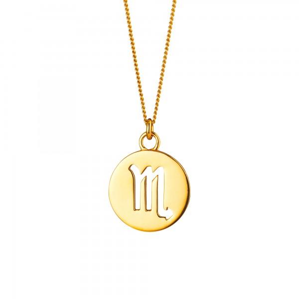 cai Skorpion Sternzeichen 925/- Sterling Silber vergoldet Halskette