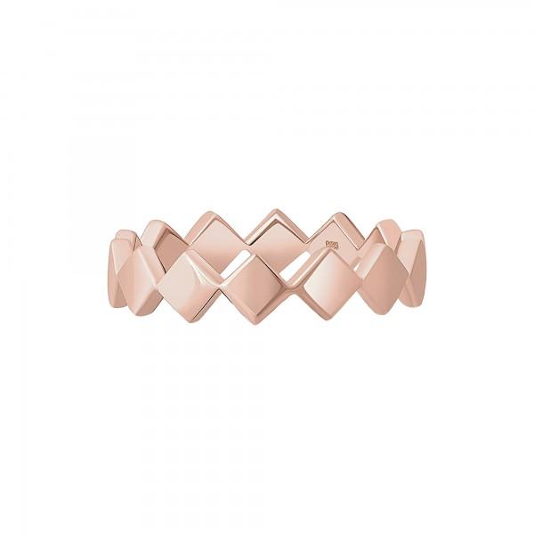 cai Ring 925 Silber rosévergoldet Rauten
