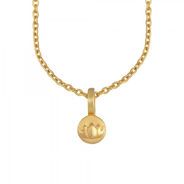 cai Anhänger mit Kette 925/- Sterling Silber vergoldet Lotusblüte