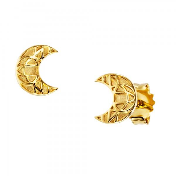 cai Ohrstecker 925/- Sterling Silber vergoldet Mond