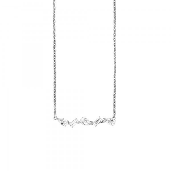 cai Collier 925/- Sterling Silber Weißtopas