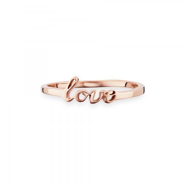 cai Ring 925/- Sterling Silber rotvergoldet Love