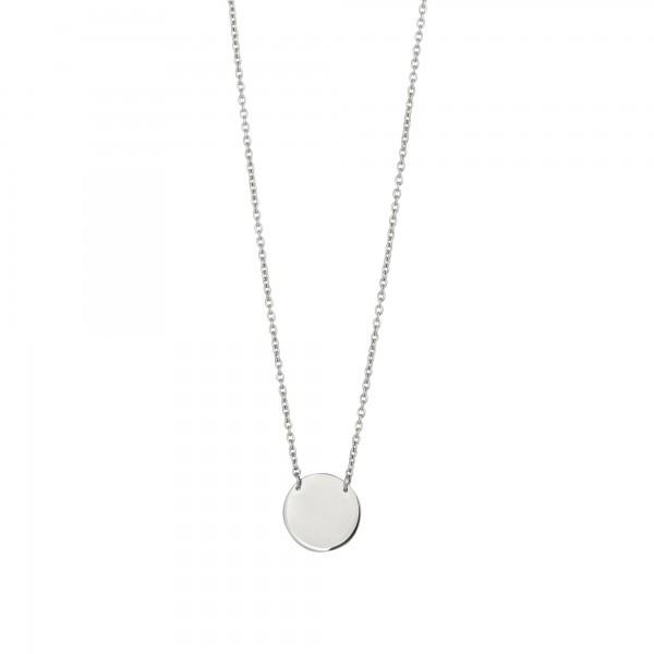 cai Collier 925/-Sterling Silber rhodiniert Plättchen Boho