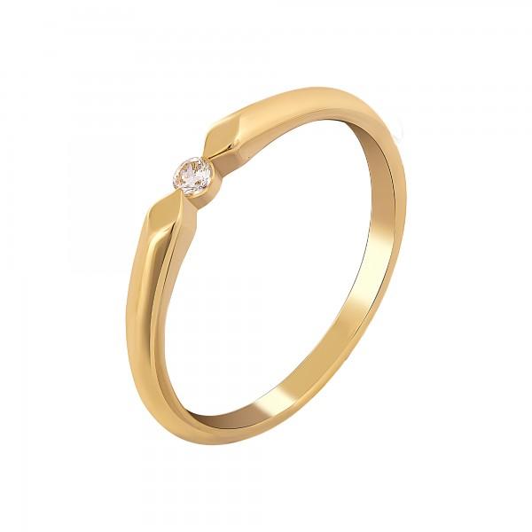 cai Ring 925 Silber vergoldet mit Zirkonia
