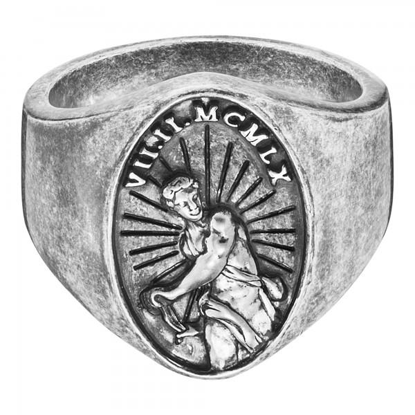 cai Ring 925/- Sterling Silber matt-oxidiert