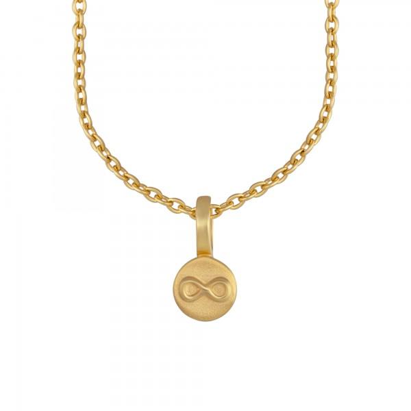 cai Anhänger mit Kette 925/- Sterling Silber vergoldet Unendlichkeitssymbol