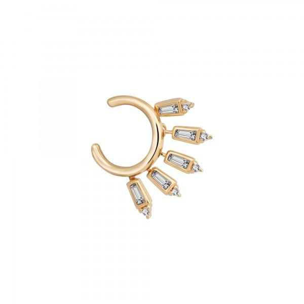 cai Ear Cuff 925 Silber vergoldet Anhänger Zirkonia