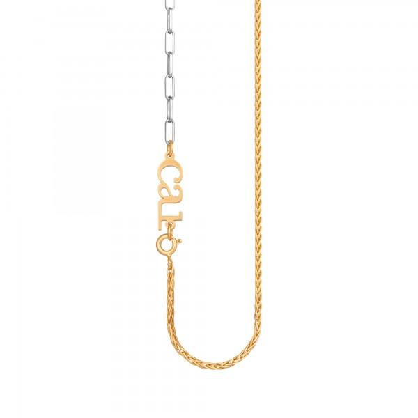 cai Collier Kettenmix 925/- Sterling Silber bicolor zweifarbig