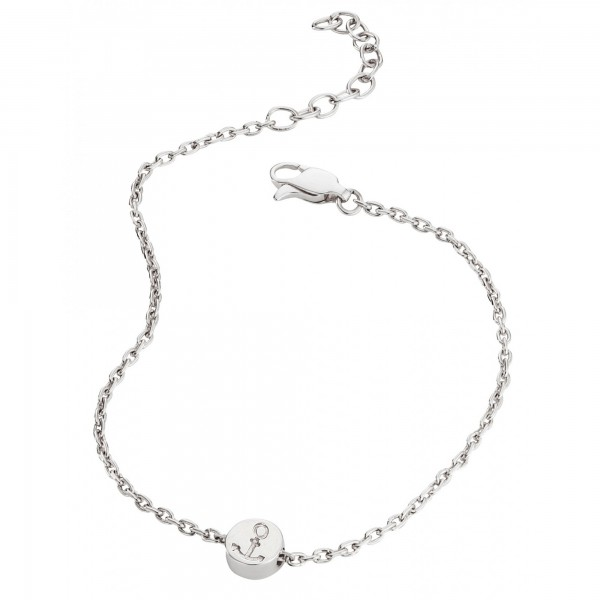 cai 925/- Sterling Silber rhodiniert Anker Armband