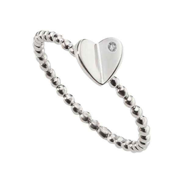 cai Ring 925/- Sterling Silber heart Zirkonia