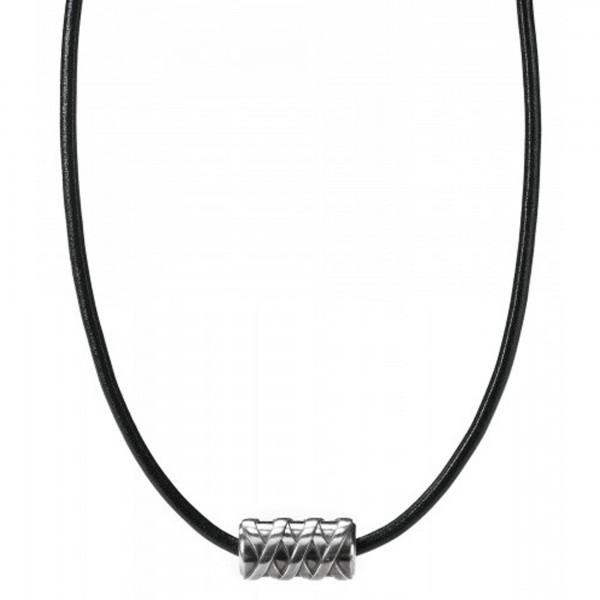 cai Collier 925/- Sterling Silber rhodiniert Lederand