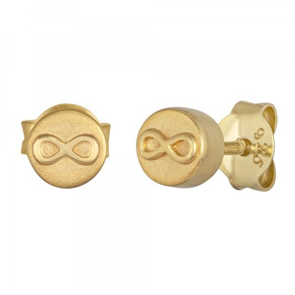 cai Ohrstecker 925/- Sterling Silber vergoldet Infinity Unendlichkeit