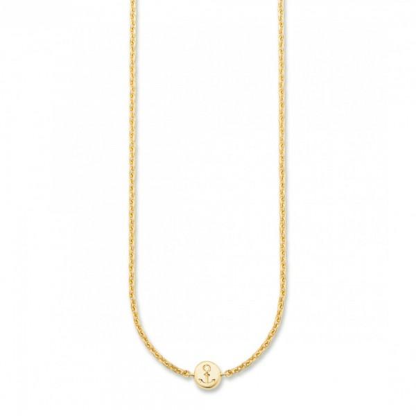 cai Collier 925/- Sterling Silber vergoldet Anker