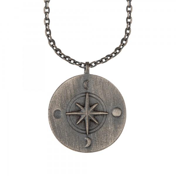 cai Halskette Element Wasser 925/- Sterling Silber oxidiert