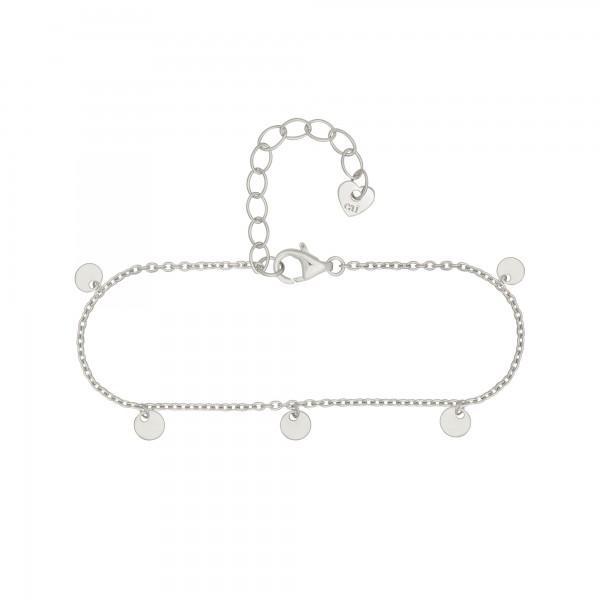 cai Armband 925 Silber rhodiniert Anhänger Plättchen