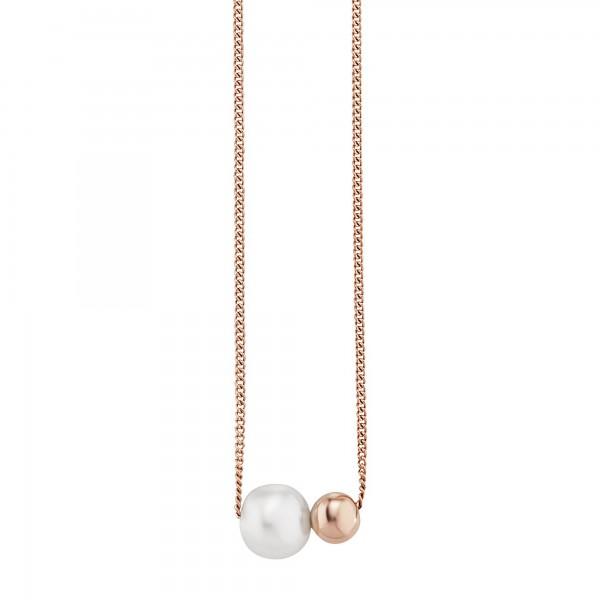 cai Collier 925/- Sterling Silber rotvergoldet Perle