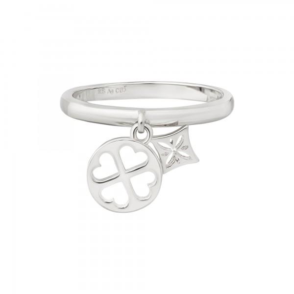 cai Ring 925 Silber rhodiniert Anhänger Cut-outs