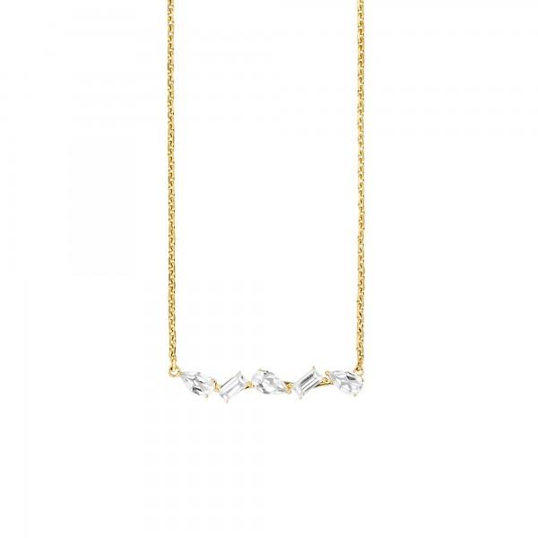cai Collier 925/- Sterling Silber vergoldet Weißtopas