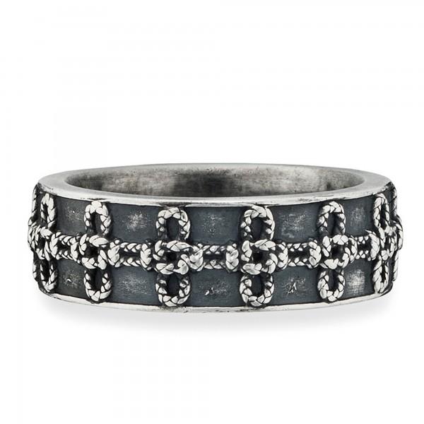 cai Ring 925/- Sterling Silber matt oxidiert Knoten