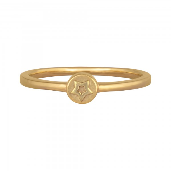 cai Ring 925/- Sterling Silber vergoldet Stern