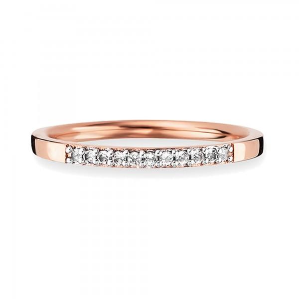 cai 925/- Sterling Silber rotvergoldet Topas Ring