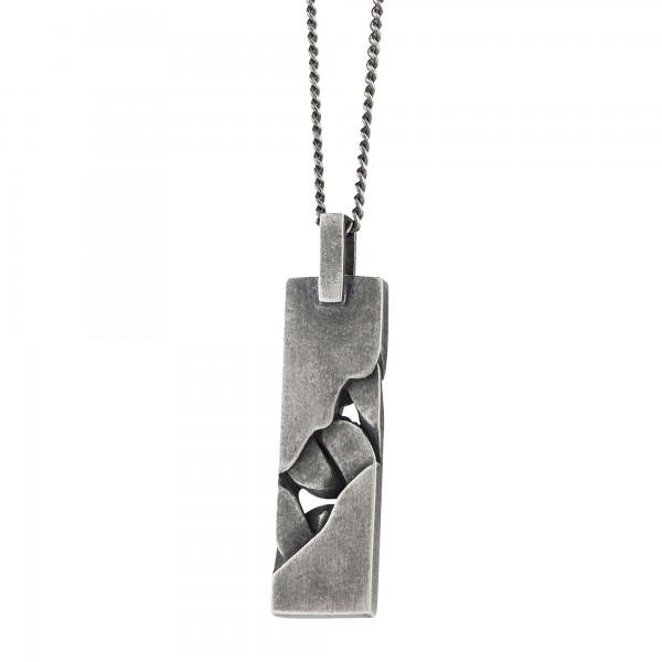 cai Anhänger mit Kette 925/- Sterling Silber rhodiniert oxidiert