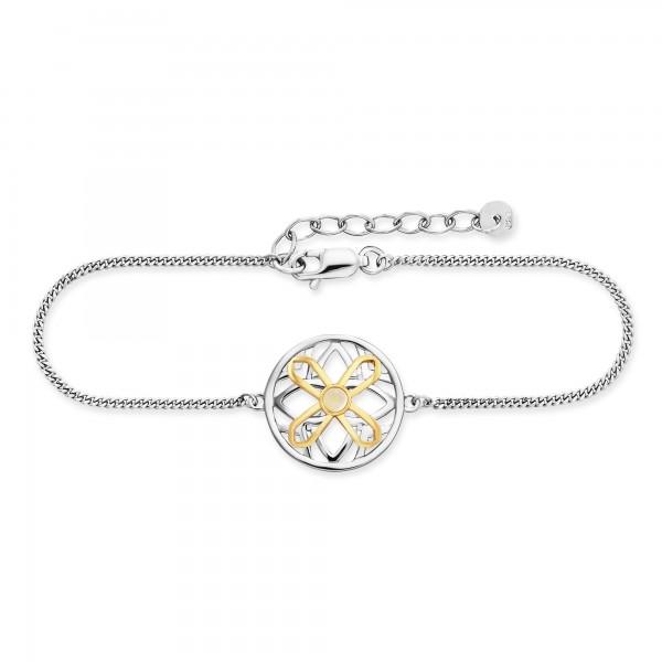 cai Armband 925/- Sterling Silber vergoldet Mondstein