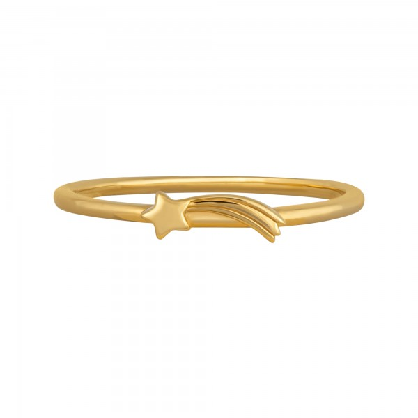 cai Ring 925/- Sterling Silber vergoldet Sternschnuppe