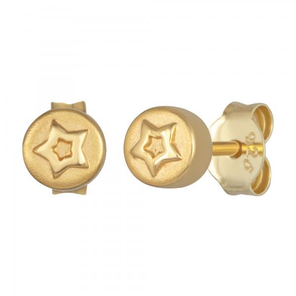 cai Ohrstecker 925/- Sterling Silber vergoldet Sterne