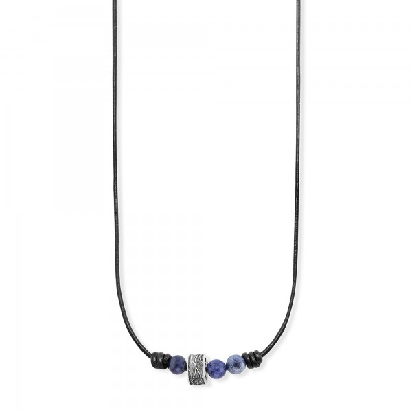 cai Collier 925/- Sterling Silber oxidiert Sodalith
