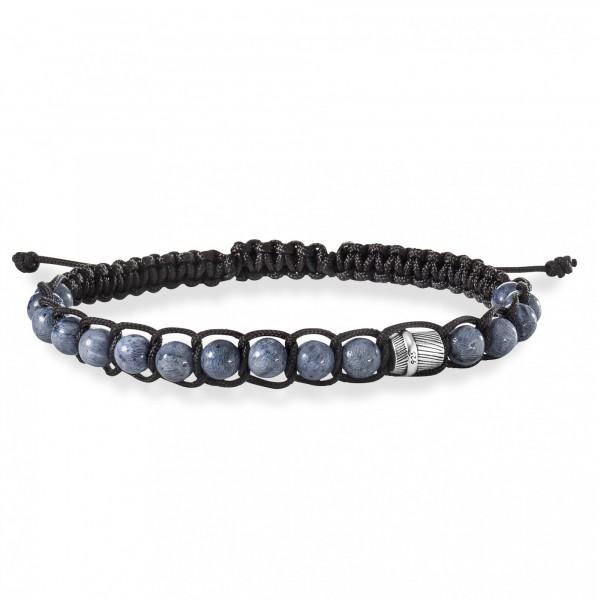 cai Armband 925/- Sterling Silber rhodiniert Koralle grau