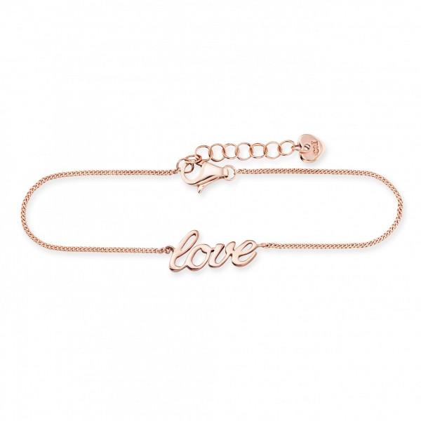 cai Armband 925/- Sterling Silber rotvergoldet LOVE