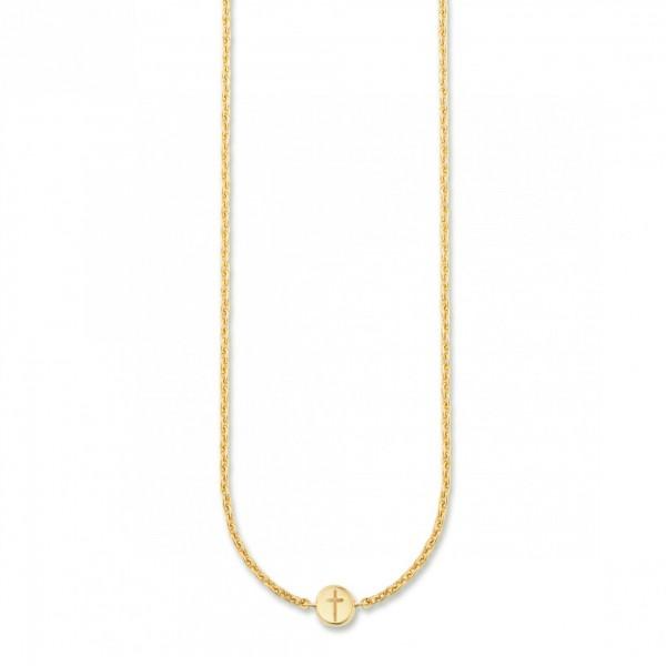 cai Collier 925/- Sterling Silber vergoldet Kreuz