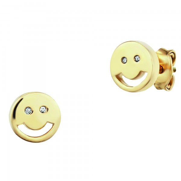 cai Ohrstecker 925/- Sterling Silber vergoldet Emoji