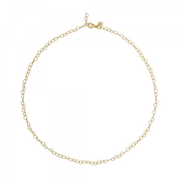 cai Collier 925 Silber vergoldet Herzchenkette Choker