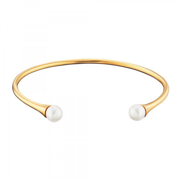 cai 925/- Sterling Silber vergoldet Perlen Armreif