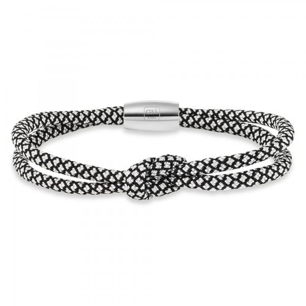 cai Paracord-Nylonband Edelstahlschließe 23cm Armband