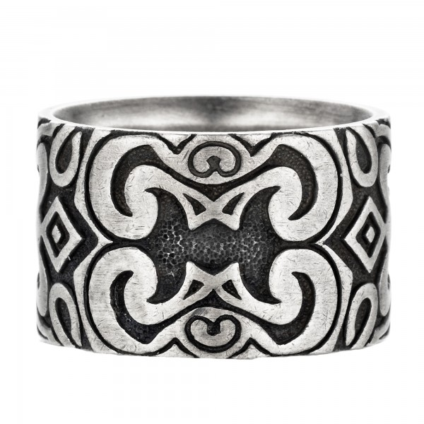 cai Ring 925/- Sterling Silber oxidiert matt Amerika