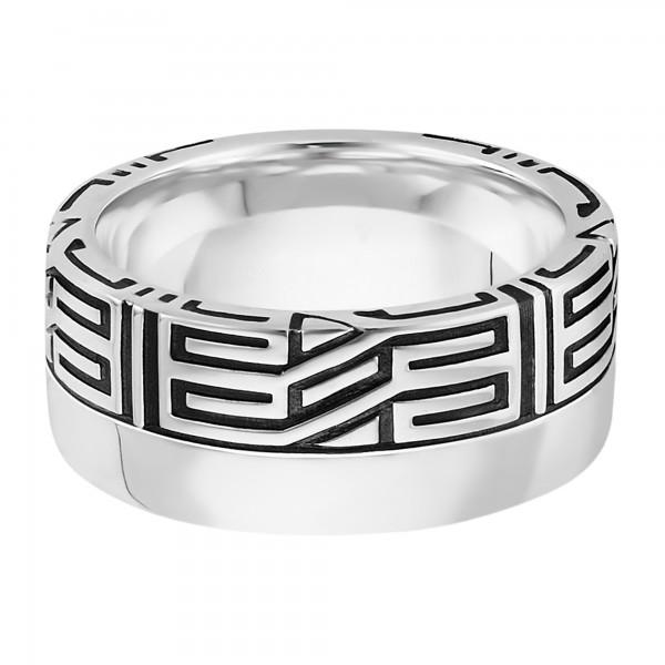 cai Ring 925/- Sterling Silber rhodiniert Ornament