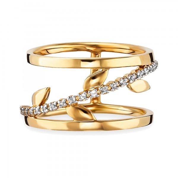 cai Ring 925/- Sterlin Silber vergoldet Topas