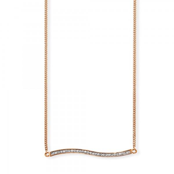 cai Collier 925 /-Sterling Silber rotvergoldet Topas