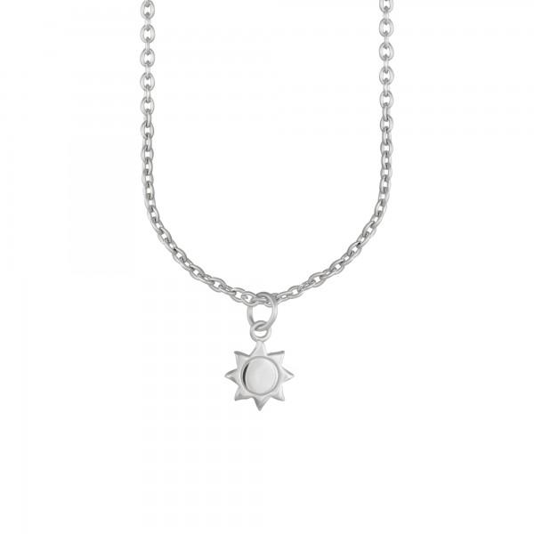 cai Anhänger mit Kette 925/- Sterling Silber rhodiniert Sonne