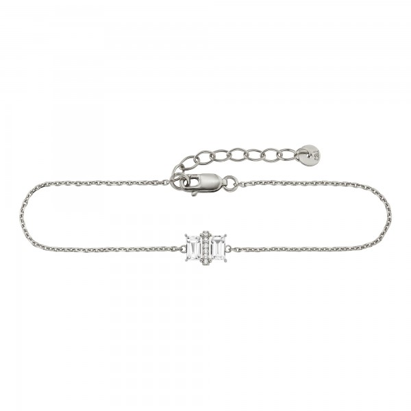 cai Armband 925/- Sterling Silber rhodiniert 20cm Weißtopas