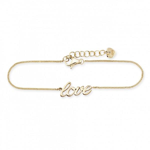 cai Armband 925 Silber vergoldet LOVE