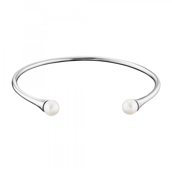 cai 925/- Sterling Silber rhodiniert Perlen Armreif